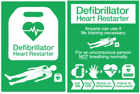 NEW AED SIGNS